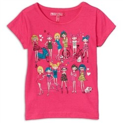 Cherrystix Pink Glitter Print T Shirt With Fashionable Girls