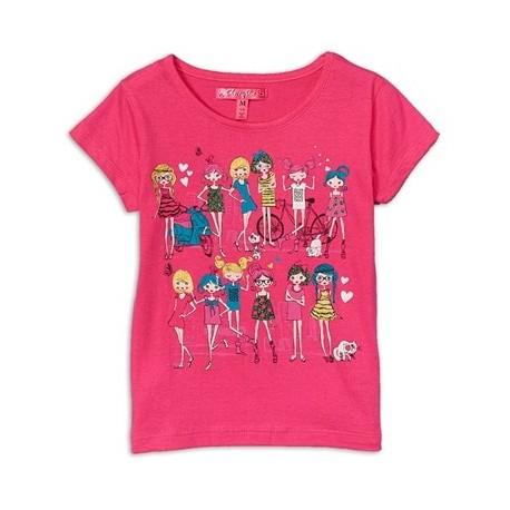 Cherrystix Pink Glitter Print T Shirt With Fashionable Girls