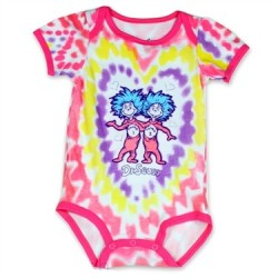 DC Comics Dr Seuss Thing 1 And Thing 2 Pink And Purple Creeper