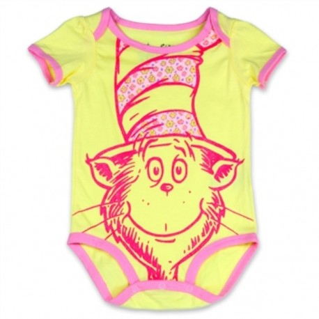 Dr Seuss The Cat In The Hat Yellow Infant Creeper
