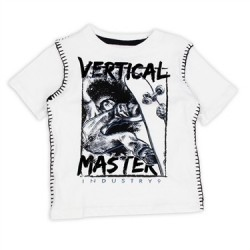 Vertical Master Skateboard White Short Sleeve Shirt From Industry Nine