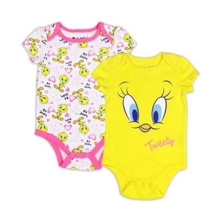 Looney Tunes Tweety Bird Yellow Love Ya 2 Piece Creeper Set