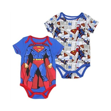 DC comics Superman The Man Of Steel 2 Pack Creeper Set