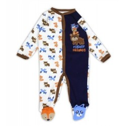 Buster Brown Forest Friends Snap Down Footed Sleeper Space City Kids Clothing Store