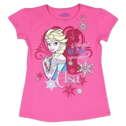 Disney Frozen Elsa Graceful Regal And Powerful GirlsShirt Space City Kids Clothing Store