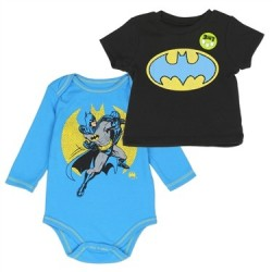 DC Comics Batman The Caped Crusader 2 Piece Shirt Set