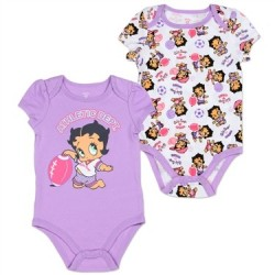 Baby Boop Betty Boop Lavender Athletic Dept 2 Pack Creeper Set