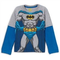 DC Comics Batman Grey Long Sleeve Shirt