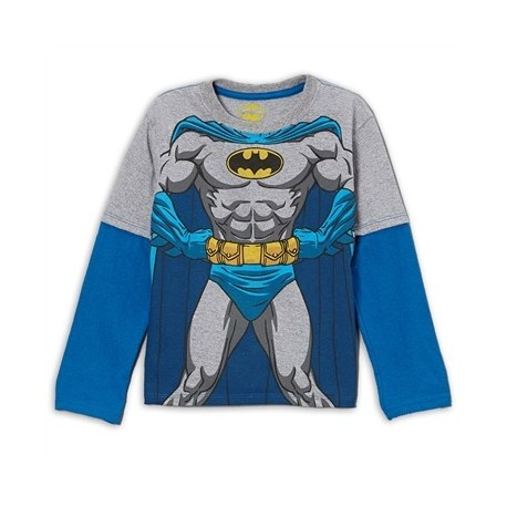 DC Comics Batman Grey Long Sleeve Shirt
