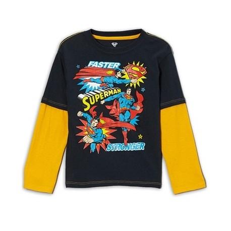 DC Comics Superman Faster Stronger Long Sleeve Shirt