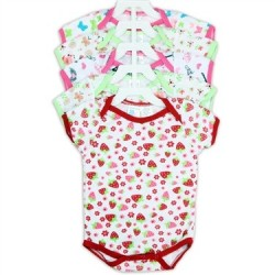 Coney Island 5 Pack Infant Girls Creeper Set