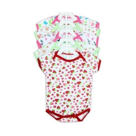 Coney Island 5 Pack Infant Girls Creeper Set
