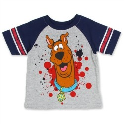 Scooby Doo Grey Boys Short Sleeve T Shirt
