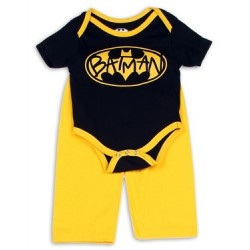 DC Comics Batman Black Bat Signal Creeper And Yellow Pants