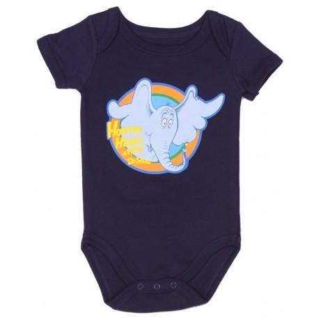 Dr Seuss Horton The Elephant Hears A Who Navy Blue Infant Creeper Space City Kids Clothing
