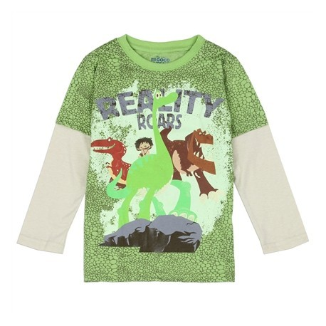 Disney The Good Dinosuar Reality Roars Green Scales Long Sleeve Shirt