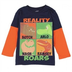The Good Dinosaur Reality Roars Boys Long Sleeve Shirt