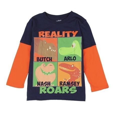 Disney Pixar The Good Dinosaur Reality Roars Long Sleeve Shirt