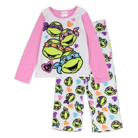 Nick Jr Teenage Mutant Ninja Turtles Long Sleeve Pajama Top and Pants