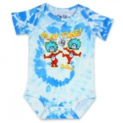 Dr Seuss playtime With Thing One And Thing 2 Blue And White Onesie
