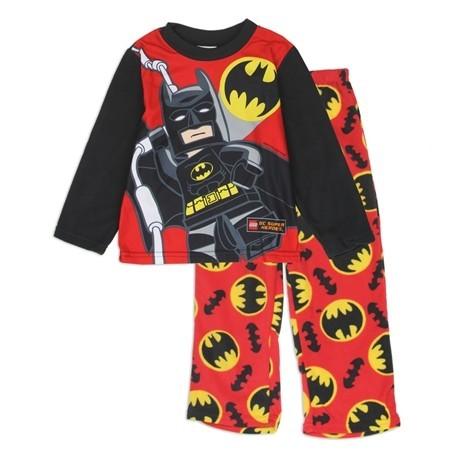 Licensed Lego Batman Boys Red 2 Piece Flame Resistant Fleece Pajama Set
