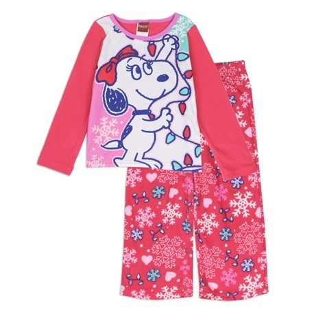 Officially Licensed Peanuts Bell Snoopy's Girlfriend 2 Piece Fleece Pajama Set