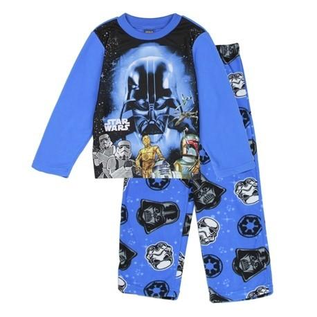 Star Wars 2 Piece Fleece Pajama Set With Darth Vader R2D2 And 3CPO