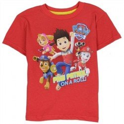 Nick Jr Paw Patrol On Patrol Red Short Sleeve Toddler Boys Shirt
