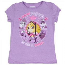 Nick Jr Paw Patrol Is On A Roll Purple Girls Shirt Space City Kids Clothing Store