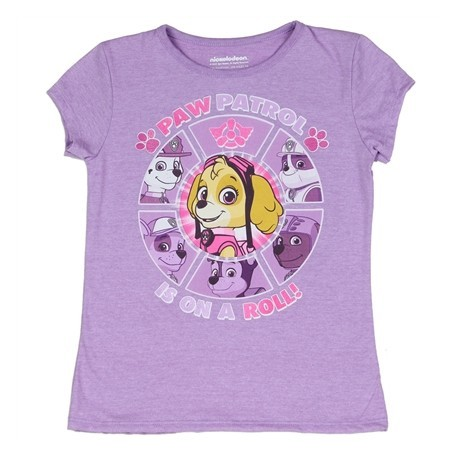 Nick Jr Paw Patrol Is On A Roll Purple Girls Graphic T Shirt