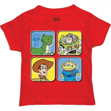 Disney Toy Story Woody Buzz Rex And Alein Red Toddler Graphic T Shirt
