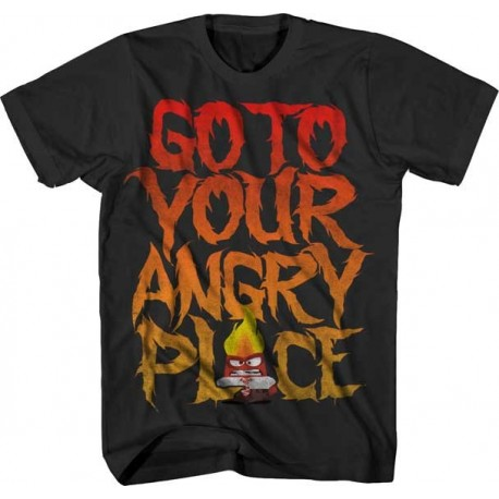 Disney Inside Out Go To Your Angry Place Boys Short Sleeve Graphic T Shirt
