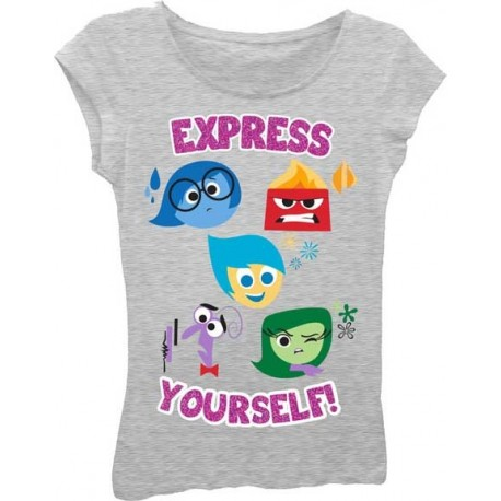 Disney Inside Out Anger Disgust Fear Joy and Saddness Express Yourself T Shirt