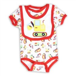 Weeplay Construction Equipment Onesie And Bib