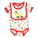 Weeplay Tractors And Construction Signs Infant Onesie And Bib