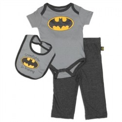 DC Comics Batman Crimefighter In Training Onesie, Pants And Bib
