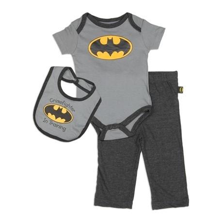 DC Comics Batman Crimefighter In Training Onesie, Pants And Bib