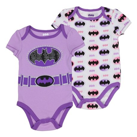 DC Comics Lavender Bat Girl Baby Onesies 2 Piece Set Space City KIds Clothing