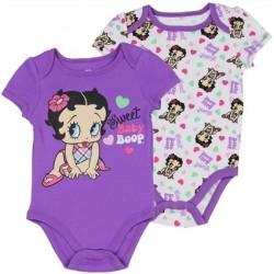 Sweet Baby Boop Betty Boop Purple 2 Piece Onesie Set