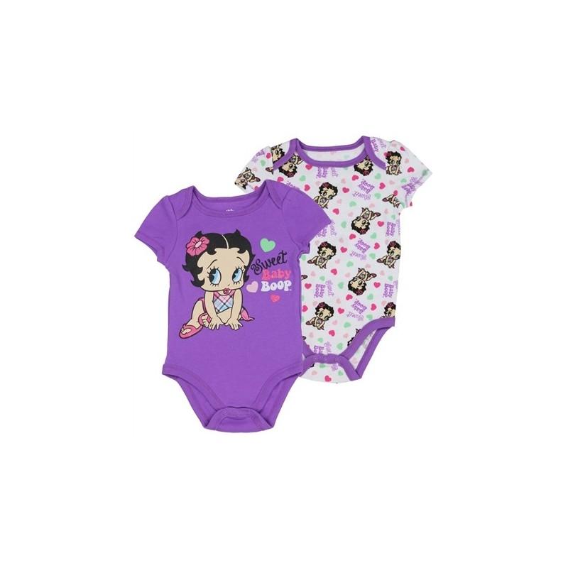 6289b3535e5a Betty Boop Baby Boop Purple Onesie Set