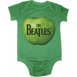 The Beatles An Apple A Day Logo Kelly Green Infant Onesie
