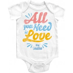 All You Need Is Love The Beatles White Baby Onesie BEW7028