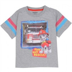 Nick Jr Paw Patrol Marshall Ruff Ruff Rescue Heather Grey T Shirt