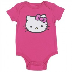 Hello Kitty Pink Infant Onesie Featuring Hello Kitty