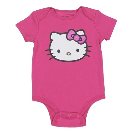 Hello Kitty Pink Infant Onesie Featuring Hello Kitty 06L5338SS