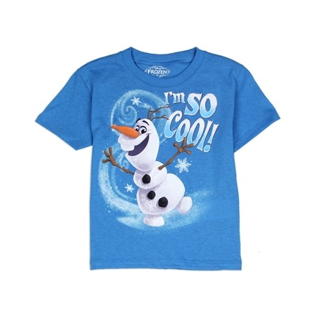 Disney Frozen I'm So Cool Blue Short Sleeve Graphic T Shirt