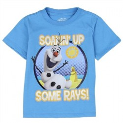 Disney Frozen Olaf Blue Soakin Up Some Rays Graphic T Shirt