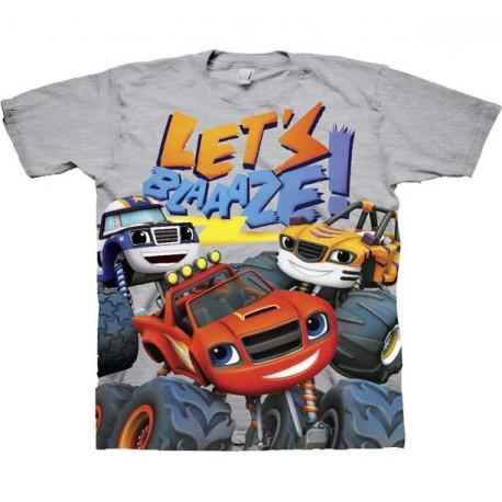 Nick Jr Blaze and the Monster Machine Heather Grey Short Sleeve Graphic T Shirt