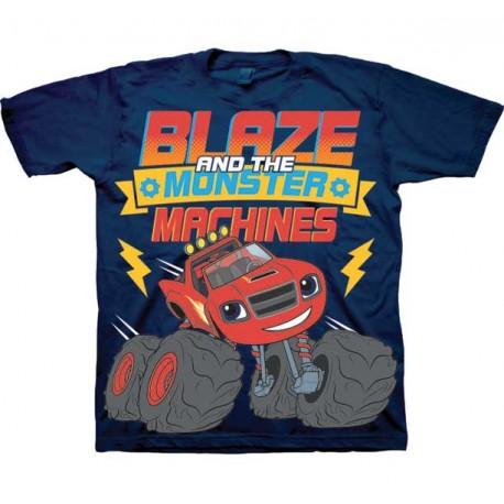 Nick Jr Blaze And The Monster Machines Navy Blue Blaze T Shirt