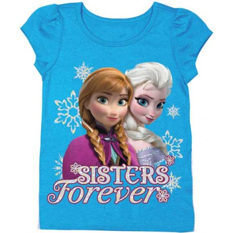 Disney Frozen Sisters Forever Anna and Elsa Short Sleeve T Shirt